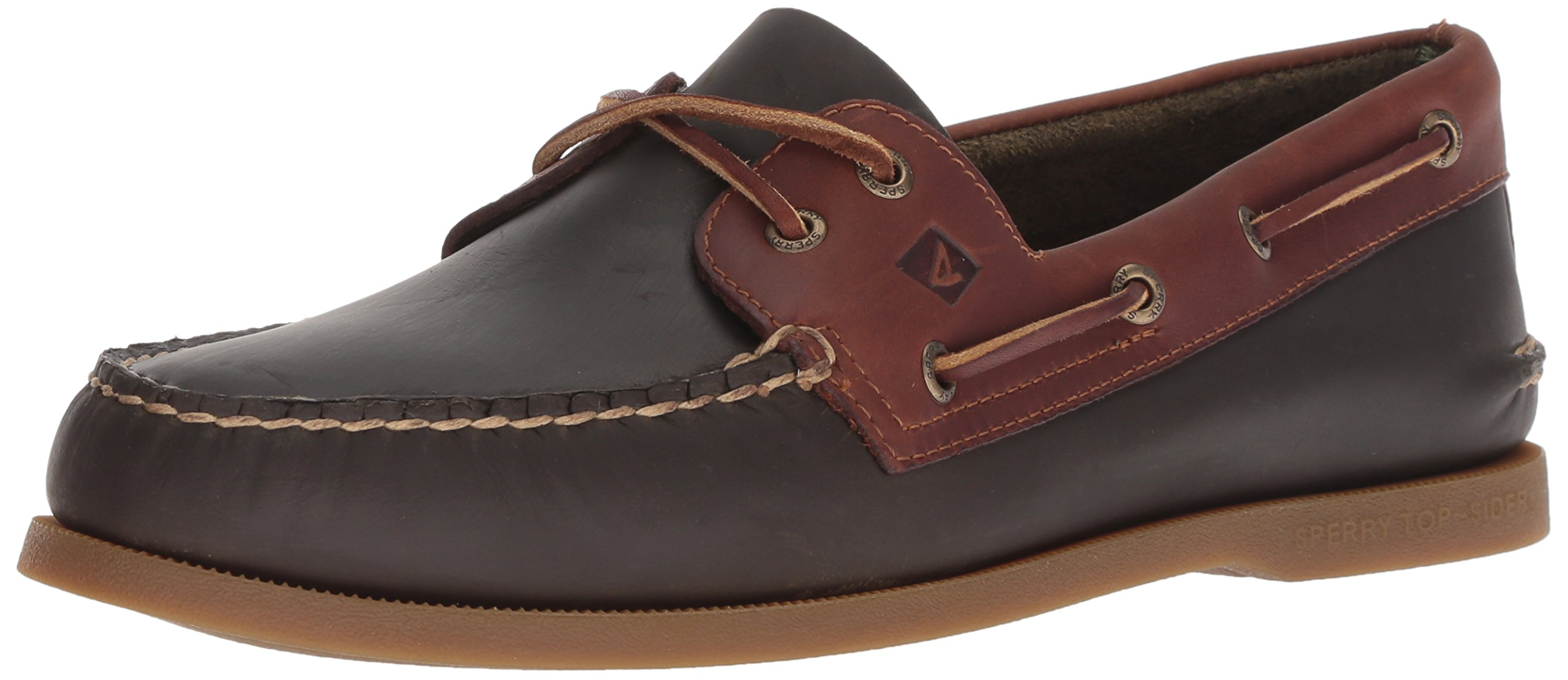 Sperry Mens Original Richtown Boat Shoe - Olive/tan - 9 M