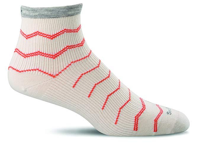 Sockwell Womens Plantar Fasciitis Firm Compression Socks - Plantar Quarter Natural - Small/Medium