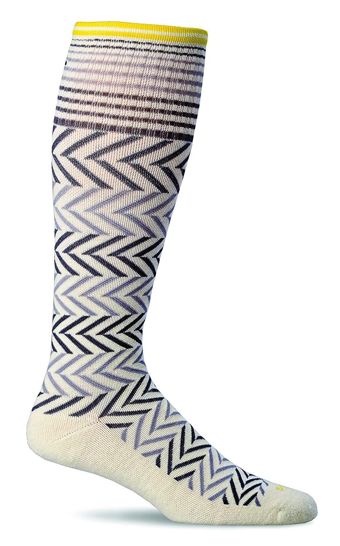 Sockwell Womens Chevron Graduated Compression Socks - Natural - Small/Medium