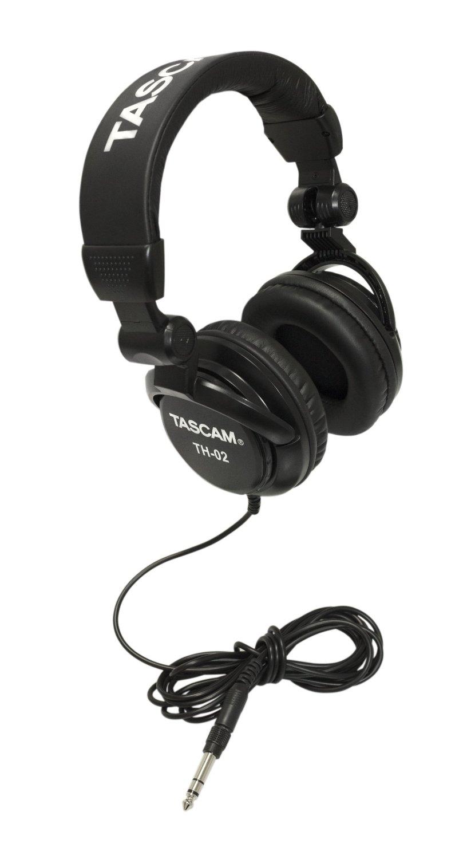 Tascam Closed Back Studio Headphones - Black - TH-02
