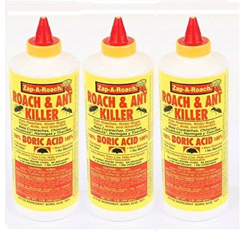 3 Pk - Boric Acid Roach & Ant Killer NET Wt. 1 Lb. (454 gms) Each